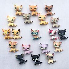 6pcs/bag Littlest Pet Shop toy 1 super cat +5 random rare LPS cat surprise gift