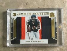2015 PANINI CROWN ROYAL KEVIN WHITE ROOKIE JUMBO SILHOUETTES DUAL JUMBO PATCHES
