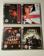 PS3 PLAYSTATION 3 GAME BUNDLE JOB LOT METAL GEAR SOLID FALLOUT 3 KILLZONE 2