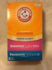 3 Pack Arm & Hammer Pet Fresh Vacuum Bags Kenmore C Q 5055 Panasonic C-5 & C-18