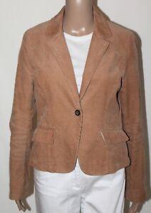 BANANA REPUBLIC Women's Size 6 Tan Brown Fully Lined Corduroy Blazer Jacket EUC