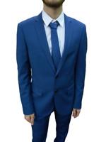 Antony Morato giacca uomo elegante da abito slim fit MMJA00267 7047 Persian blu