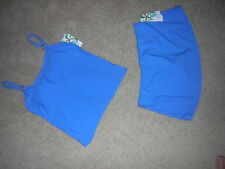 Island Escape Two Piece Swimsuit Blue NEW/NWT