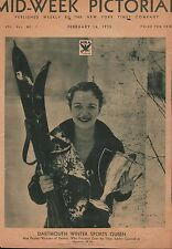1935 Miss Pauline Webster - Dartmouth Winter Sports Queen Pictured On Cover