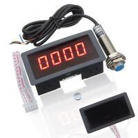 4 Digital Compte-tours Tachymètre RPM + Hall Proximité Interrupteur Capteur