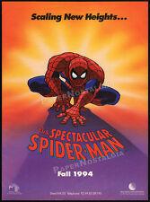 SPIDER-MAN__Orig. 1993 Trade print AD / poster__Marvel Comics animated TV series