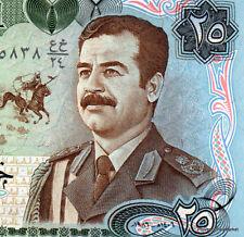 IRAK billet neuf de 25 SWISS DINARS Pick73  SADDAM HUSSEIN en UNIFORME 1986