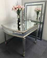 Stunning Dining Table Venetian Mirrored Furniture Antique Silver Kitchen Glass
