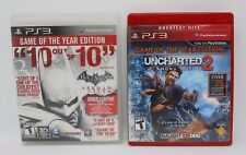 Lot of 2 Sony Playstation 3 /PS3 Videos Games / Uncharted 2 / Batman Arkham City