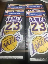 Lebron James (1) Set of 2 Die Cut Decal Lakers Stickers.