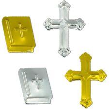 240 Streuteile Kommunion Konfirmation Kreuz Bibel gold silber Streu Tisch Deko