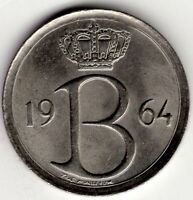 1964 BELGIUM 25 CENTIMES NICE WORLD COIN