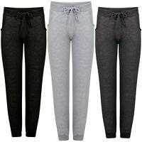 Ladies Fleece Slim Fit Jogging Tracksuit Bottoms Skinny Joggers Womens Trousers