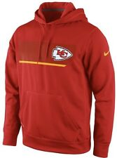 Nike Therma Fit Kansas City Chiefs Performance Hoodie Sweatshirt Jersey Medium M