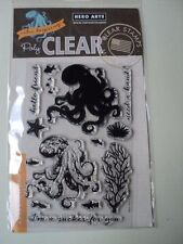 HERO ARTS COLOR LAYERING OCTOPUS POLY CLEAR CLEAR STAMPS SET CM104 BNIP