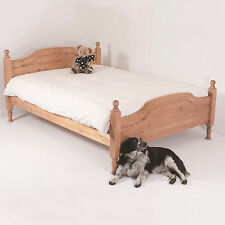 4ft6 Double Bed STRONG Frame Solid Pine Wood HIDDEN FITTINGS Hilton HF