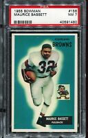 1955 Bowman Football #156 MAURICE BASSETT RC Rookie Cleveland Browns PSA 7 NM