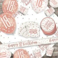 Rose Gold Glitz 18th Birthday Party Supplies Tableware, Decorations, Balloons