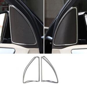 For Mercedes-Benz ML GL GLE Class W166 2x Chrome Door Speaker Frame cover trim