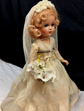 "Wwii Bride - c.1938-46 Arranbee Nancy Lee Nanette Composition 18"" Antique Doll"