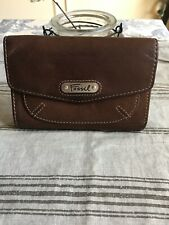 FOSSIL BROWN LEATHER SNAP CLOSE URBAN CHILL SUPER SOFT WALLET CC/ID/BILL/COIN