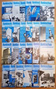24x Funkschau 1959 Ausgabe B Funktechnik Zeitschrift Hefte alt Franzis Radio