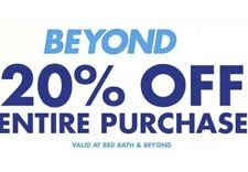 BED BATH & BEYOND: 20% Off Entire Purchase