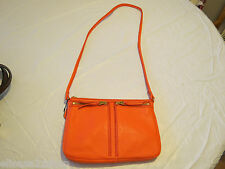 Fossil  ZB5430630 Erin Small Top Zip Lipstick leather purse crossbody NWT^^