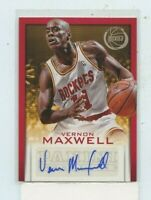 VERNON MAXWELL 2013-14 Panini Basketball Signatures Auto Autograph #40