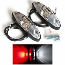 2x LED Begrenzungsleuchte Umrissleuchte rot weiß Seitenleuchte LKW Anhänger BUS