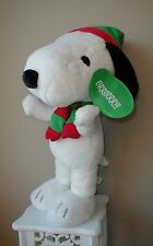 Snoopy Christmas Figurine Peanuts Plush Porch Sitter Greeter 2' Brrrr