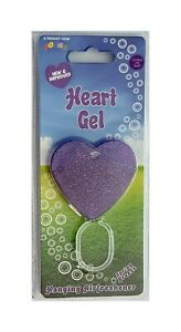 Pongo Purple Gel Heart Car Air Freshener Spring Breeze Fragrance