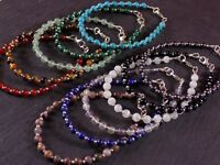 Solid 925 Sterling Silver Genuine Gemstone Beaded Bracelets Amethyst Turquoise