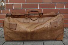 XL alte Arzttasche 60 x 30 x 40 cm Ledertasche Reisetasche braun Messingsteg