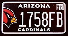 "ARIZONA "" CARDINALS "" NFL FOOTBALL SPORT BIRD "" AZ Sport SPECIALTY License Plate"