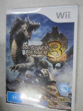 monster hunter tri 3 wii