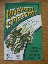 26/06/1948 Speedway Programme: Norwich v New Cross [Special Challenge Match] (ru