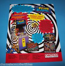 Namco POINT BLANK Original 1994 NOS Video Arcade Gun Game Promo Sales Flyer Adv.