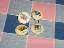 o. 4 Late 1800's Flag Pins Gum Cigarettes Hayti  Dutch Indies Salvador Bolivia