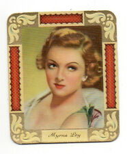 Myrna Loy 1934 Garbaty Film Star Series 2 Embossed Cigarette Card #300
