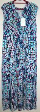Cool and Bright Blue Illusion Maxi Dress - Style Multi Animal - Size L - BNWT