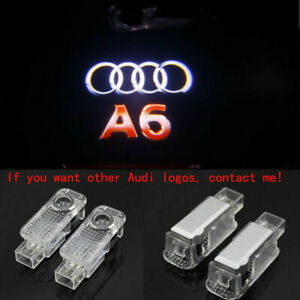 2X Audi A6 LOGO GHOST LASER PROJECTOR DOOR UNDER PUDDLE LIGHTS FOR AUDI A6 -