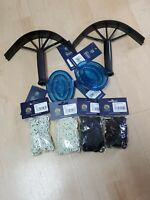 Lot of Shires Equestrian Grooming Product Scrapers, Combs, Plaiting Bands NEW