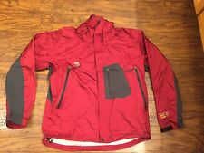MEn's Mountain hardware size S SMALL burgundy/ gray rain jacket Dt Conduit