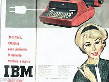 PUBLICITE ADVERTISING 056  1959  la machine à écrire IBM  éléctrique (1p 1/2)