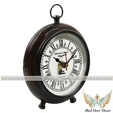 Vintage made for Jefferson & Smith London home table decor wooden clock