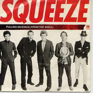 SQUEEZE -  Pulling mussels (from the shell) - 7'' (45 tours) - Red vinyl