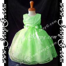 Robes verts habillés sans manches pour fille de 2 à 16 ans