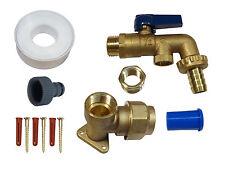 LEVA in ottone kit rubinetto esterno per 25 mm MDPE con doppia valvola di ritegno + raccordo del tubo flessibile