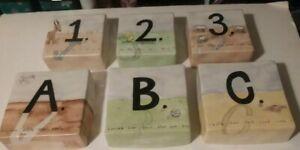 A B C Rae Dunn 123 - Cute Baby Nursery Ceramic Wall Decor - Set of 6 - Magenta